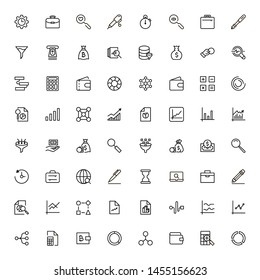 Atm cash icon set. Collection of high quality black outline logo for web site design and mobile apps. Vector illustration on a white background