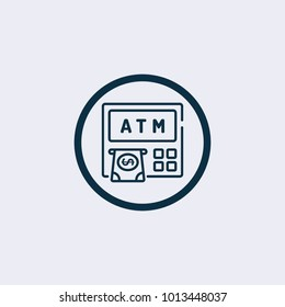 ATM icon.Vector Illustration