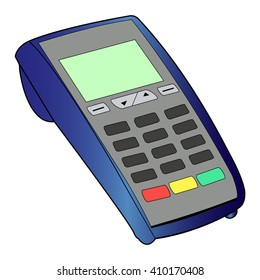 ATM keypad and POS-Terminal - simple icon