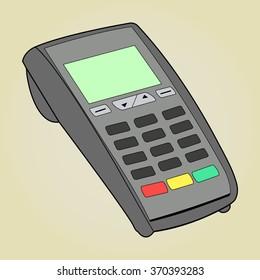 ATM keypad and POS-Terminal - simple icons