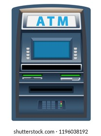 ATM  machine isolated on white background graphic vector