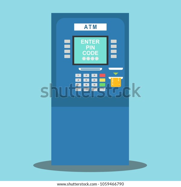 Atm Payment Vector Illustration Atm Machine Stock Vector (Royalty