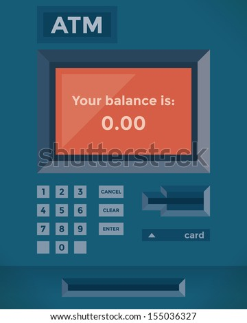 Credit Vector Atm Free Showing Shutterstock Stock Card - 155036327 Balance Zero royalty