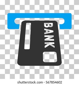 ATM Terminal icon. Vector illustration style is flat iconic bicolor symbol, blue and gray colors, transparent background. Designed for web and software interfaces.