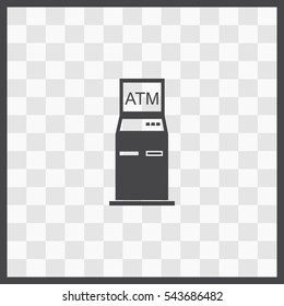 ATM vector icon. Isolated illustration. Business picture.