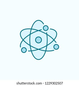 atom 2 colored line icon. Simple colored element illustration. atom outline symbol design from Scientifics study set