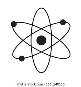 Atom flat isolated icon vector illustration design
