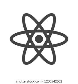 Atom Glyph Black Icon