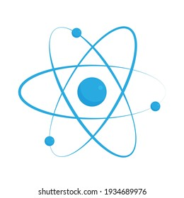 Atom icon isolated on white background. Vector illustration
