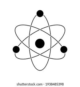 atom icon. molecular sign on white background color editable