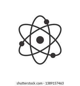Atom Icon Symbol Vector Illustration