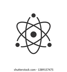 Atom Icon Symbol Vector Illustration