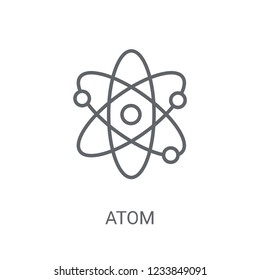 Atom icon. Trendy Atom logo concept on white background from Science collection. Suitable for use on web apps, mobile apps and print media.