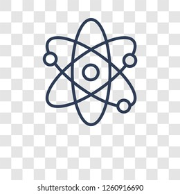 Atom icon. Trendy Atom logo concept on transparent background from Science collection
