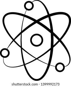 Atom Icon Vector Illustration Logo Template