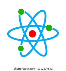 Atom icon - vector molecule illustration, chemistry science symbol