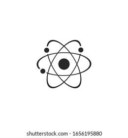 Symbol-Vektorillustration für Atom-Ikone einzeln für Grafik und Web-Design. Atom-Symbolvorlage Farbe bearbeitet auf weißem Hintergrund.