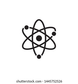 Atom icon vector. Simple design on white background.