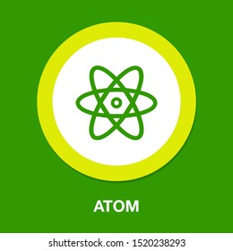 atom icon, atom vector symbol, chemistry & science research