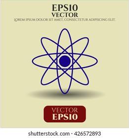 Atom icon vector symbol flat eps jpg app web concept website
