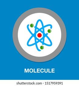 atom illustration isolated, vector molecule symbol - science Atom element, chemistry element