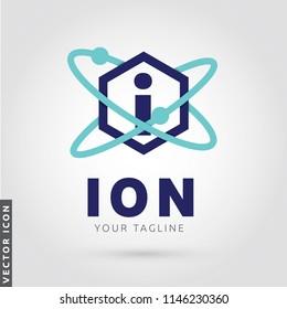 Atom Letter I Logo/Icon