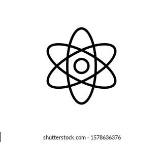 Atom line icon. High quality outline symbol for web design or mobile app. Thin line sign for design logo. Black outline pictogram on white background