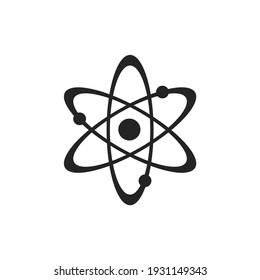 atom line icon. nuclear power symbol. science and quantum physics symbol. isolated vector image in flat style