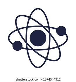 atom molecule science silhouette style vector illustration design