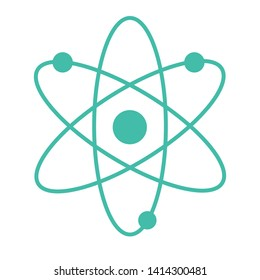 atom nuclear icon on the white background vector