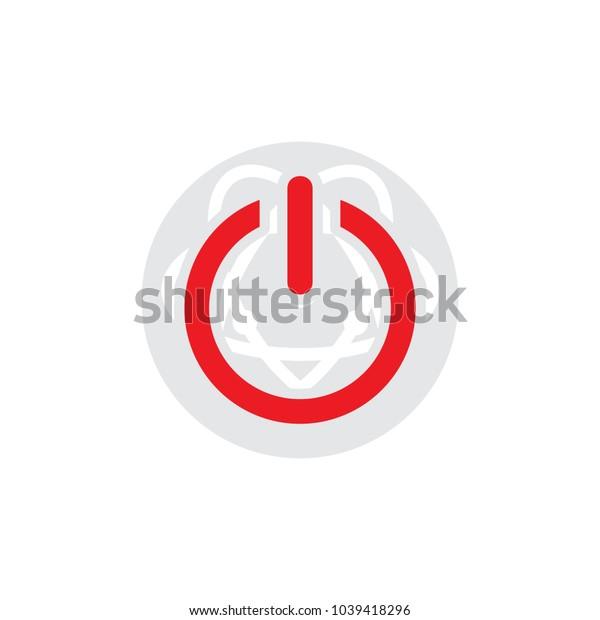 Atom Power Logo Icon Design