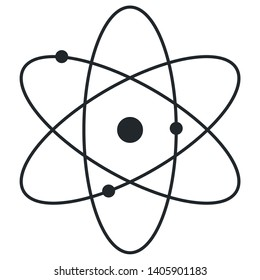 Atom sign icon, symbol, science research vector illustration