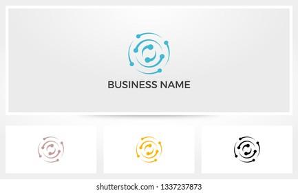 Atom Spin Vortex Logo