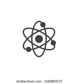 Atom structure vector icon. filled flat sign for mobile concept and web design. Atom and molecule simple solid icon. Nuclear Power symbol, logo illustration. Pixel perfect vector graphics