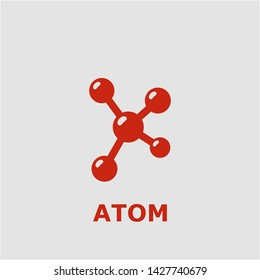 Atom symbol. Outline atom icon. Atom vector illustration for graphic art.