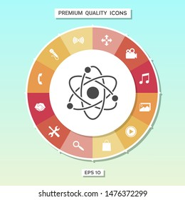 Atom symbol - science icon. Graphic elements for your design