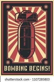 Atomic Bomb Poster Propaganda Style