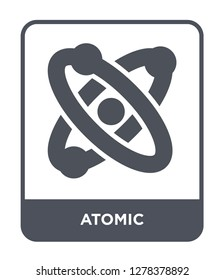 atomic icon vector on white background, atomic trendy filled icons from Chemistry collection, atomic vector illustration