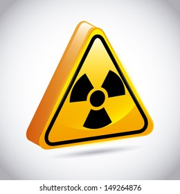 atomic signs over gray background vector illustration