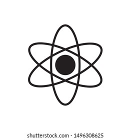 Atomic structure icon. flat simple pictogram. Atom vector illustration