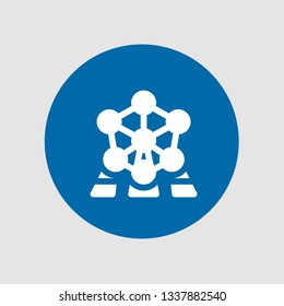 Atomium icon. Editable  Atomium icon for web or mobile.