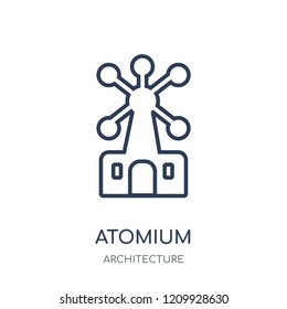 Atomium icon. Atomium linear symbol design from Architecture collection. Simple outline element vector illustration on white background.