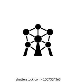 Atomium Icon Vector