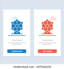 Atomium, Landmark, Monument  Blue and Red Download and Buy Now web Widget Card Template