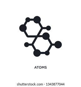 atoms isolated icon. simple element illustration from science concept icons. atoms editable logo sign symbol design on white background. can be use for web and mobile