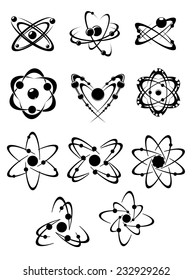 Atoms or molecules symbols and elements for science concept design