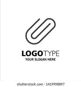 Attachment, Attach, Clip, Add Business Logo Template. Flat Color