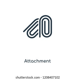 Attachment concept line icon. Linear Attachment concept outline symbol design. This simple element illustration can be used for web and mobile UI/UX.