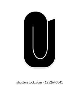 Attachment icon. File send sign. Paperclip symbol