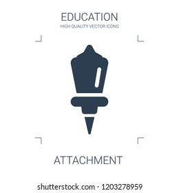 attachment icon. high quality filled attachment icon on white background. from education collection flat trendy vector attachment symbol. use for web and mobile